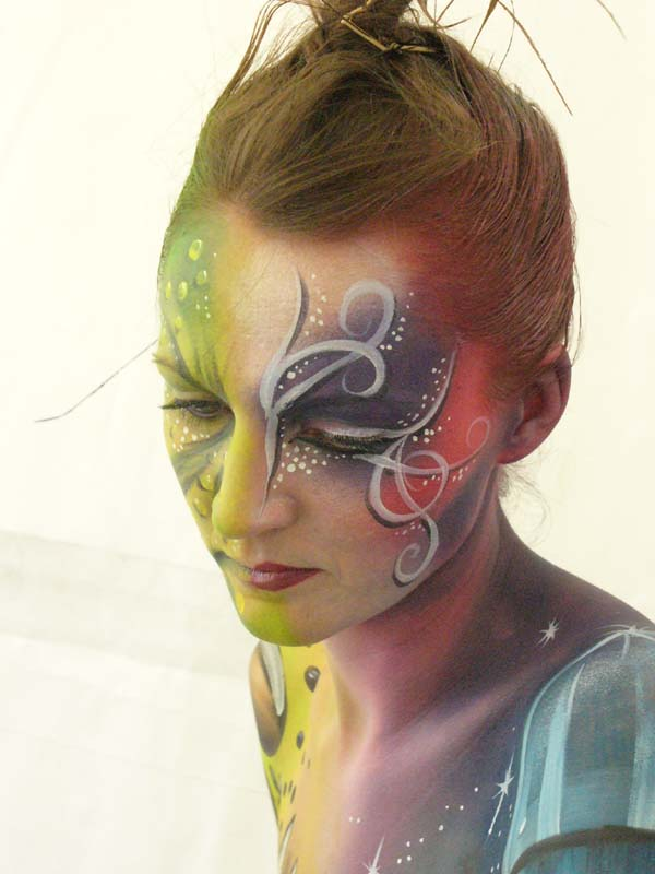 2525 body paint - close up of face