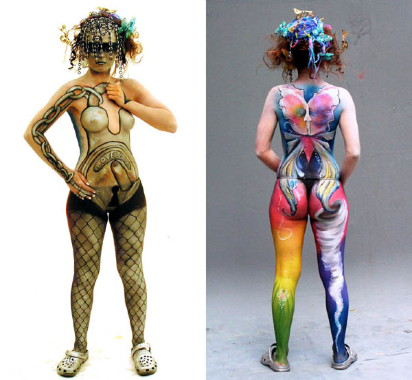Chaos and Control body paint