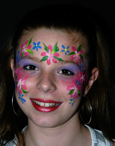 Flower fairy face